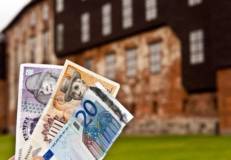 veksle euro til nok