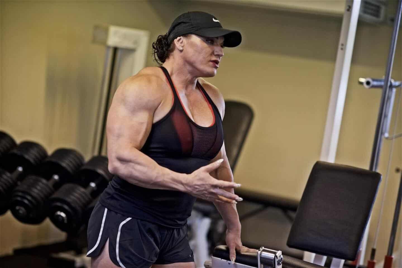 Bodybuilding kvindelig Styrketræning