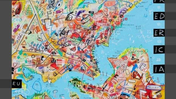 Forening fejrer jubilæum med farvestrålende kunst i børnenhøjde