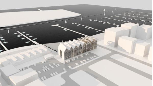 Vandsportscenter til 40 millioner i støbeskeen i Marina...