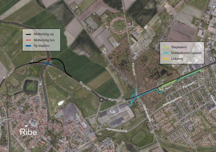 Cykelsti I Omfartsvejsprojekt Giver Vejdirektoratet Hovedbrud Jv Dk