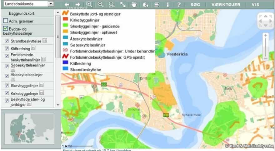 Se Strandbyggelinien For Din Grund Ved Vandet Frdb Dk