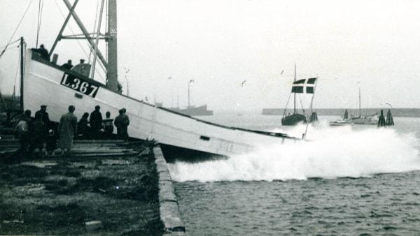 Dengang: Søsætning af ny fiskekutter