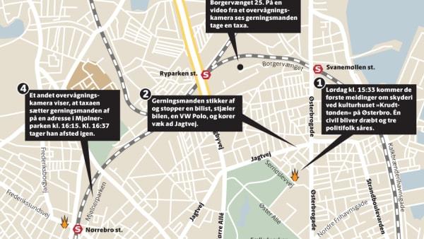 Stort Kort Sadan Forlob Terroraktionen I Kobenhavn Jv Dk
