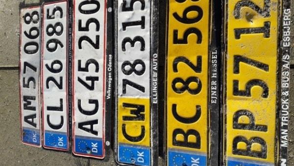 Har du mistet en nummerplade? Måske er den røget på genbrugspladsen